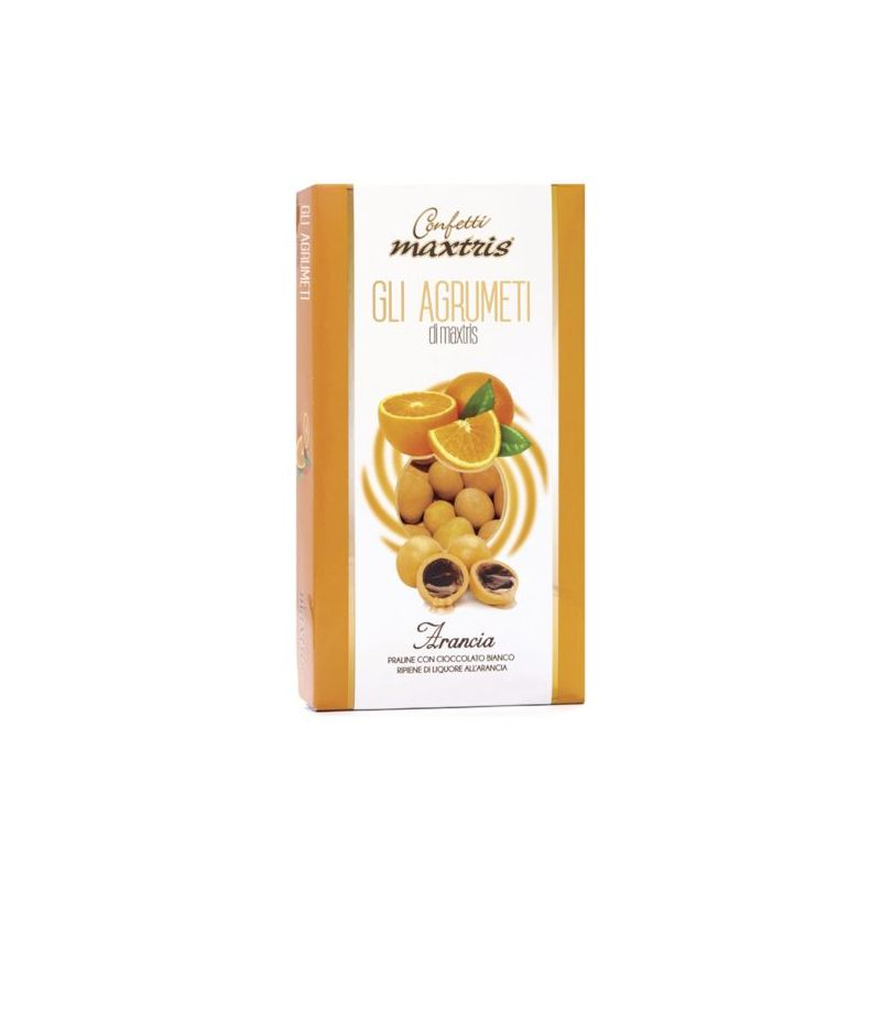 Praline colorate MAXTRIS 500 gr GLI AGRUMETI all ARANCIA con liquore