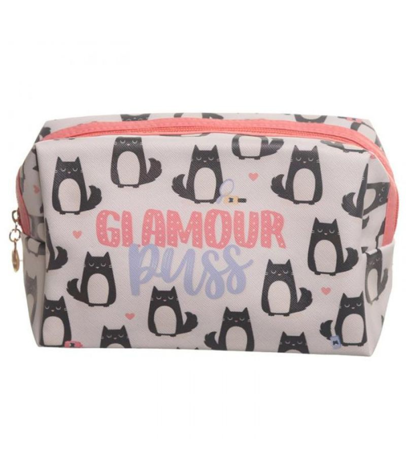 Pochette Beauty Case in pvc design GATTO