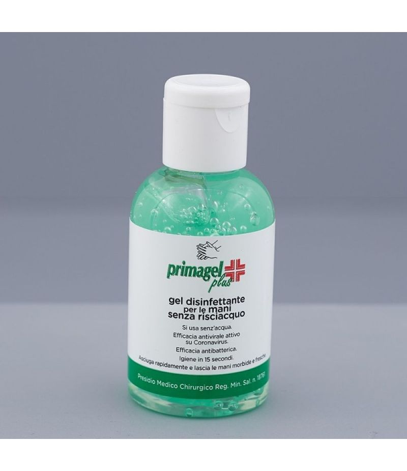 PRIMAGEL PLUS Gel igienizzante mani 50 ml antibatterico anti COVID19