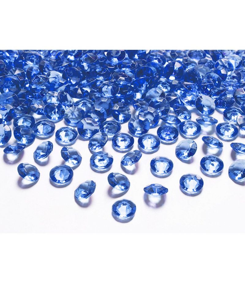 100 PZ Pietra Pietre decorative diamente colore BLU NAVY 12 mm