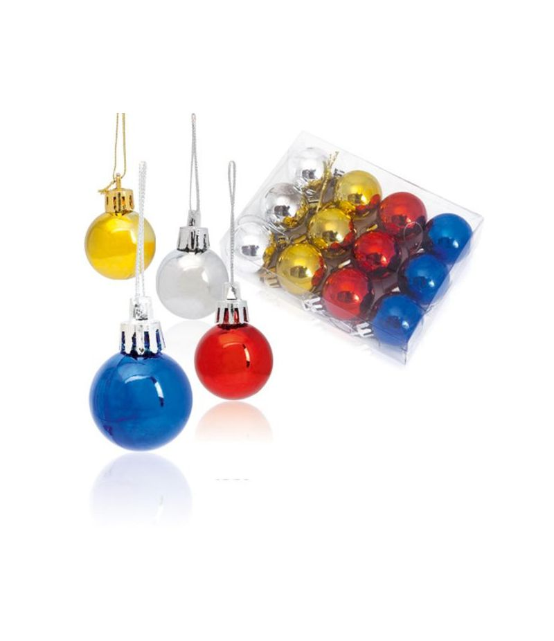 Set 12 palle palline colorate per albero di natale