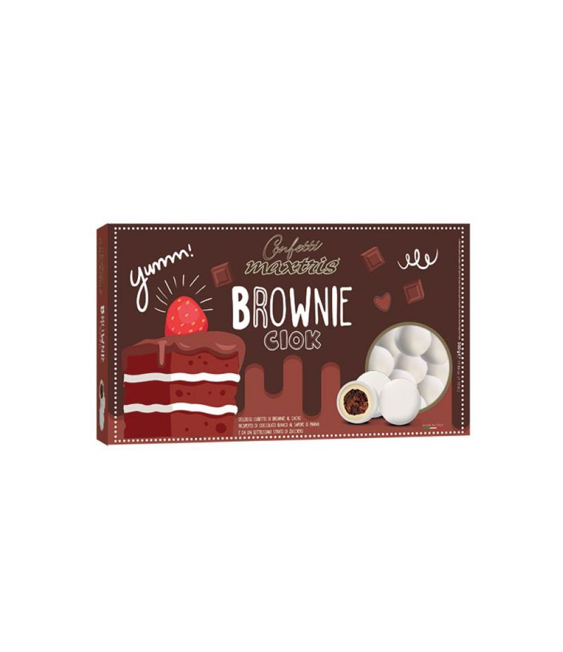 CONFETTI MAXTRIS LINEA PARTY Brownies colore BIANCO 500 gr