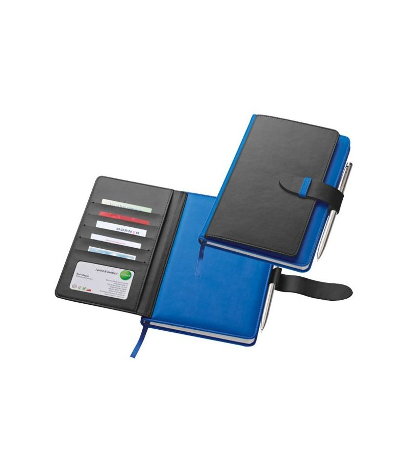Organizer block Notes similpelle A5 porta carte di credito