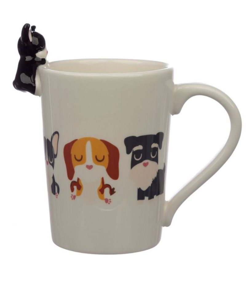 Tazza con Cane Bulldog Francese sul Bordo - Dog Squad