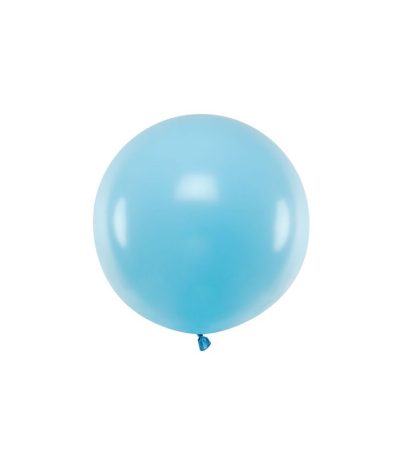Palloncino Mongolfiera Pallone 60 cm in lattine colore CELESTE