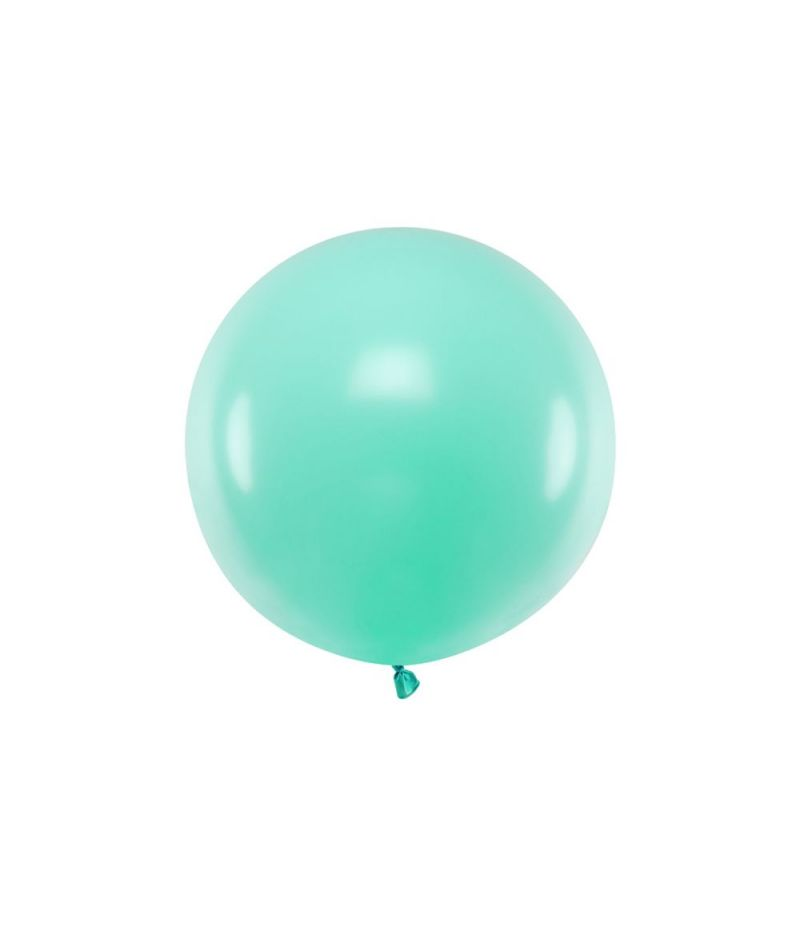 Palloncino Mongolfiera Pallone 60 cm in lattine colore TIFFANY