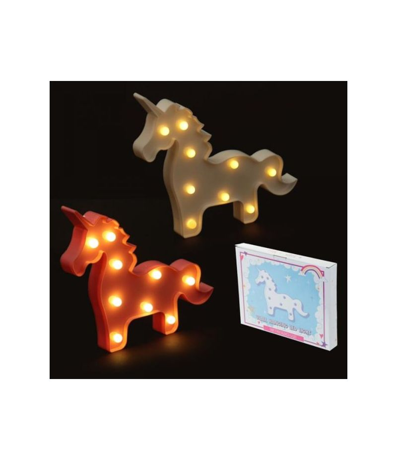 Decorazione a LED Unicorno