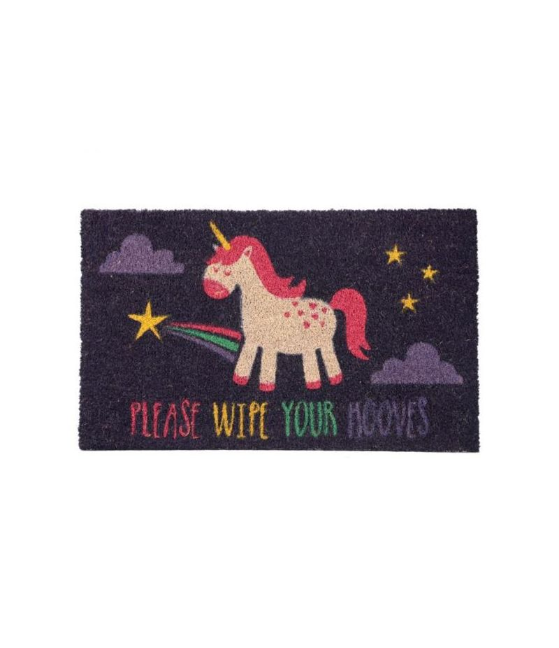 Zerbino - Please Wipe Your Hooves - Pulisciti gli Zoccoli - Unicorno