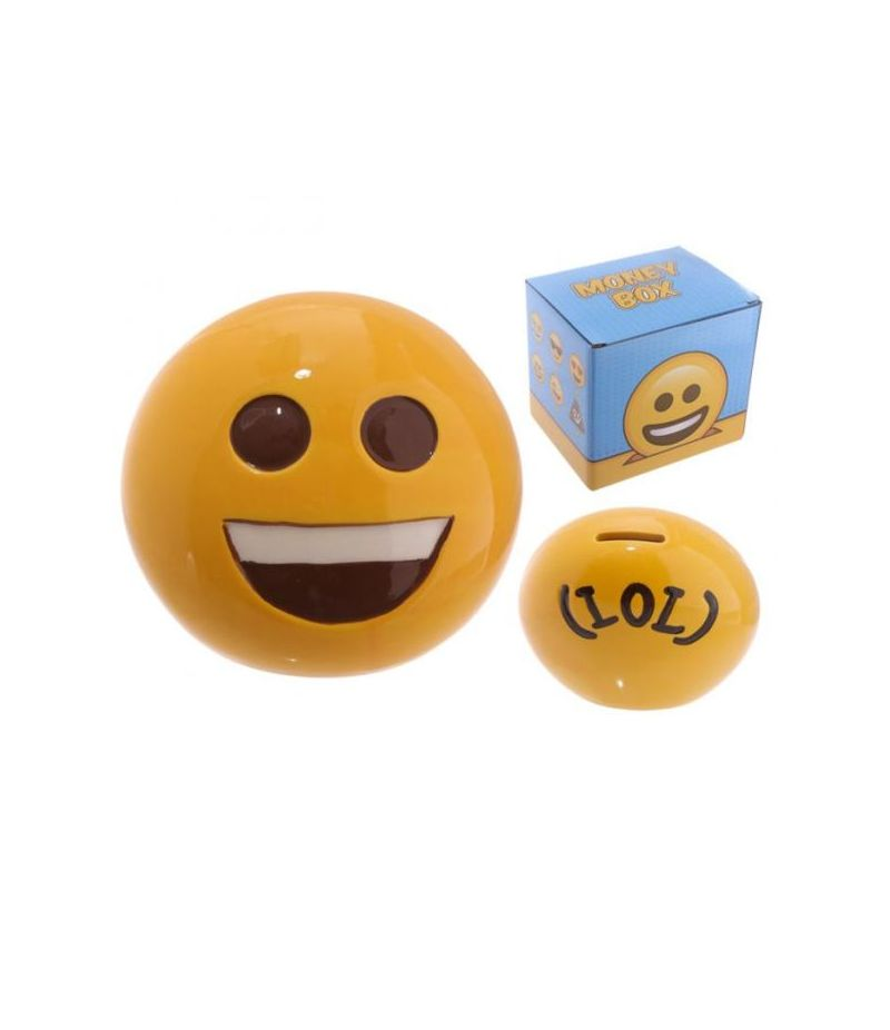Salvadanaio Emoticon Emoji Sorriso in ceramica