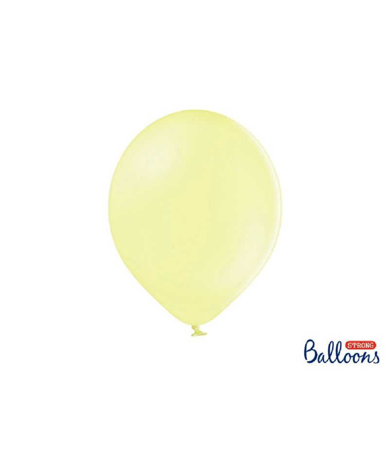 50 PZ Palloncini Palloncino Lattice 30 cm GIALLO LIGHT pastello