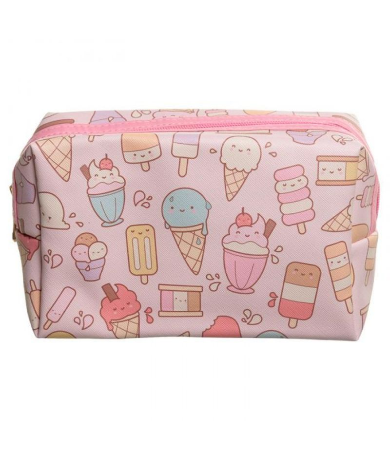 Pochette Beauty Case in pvc design CONO GELATO KAWAII