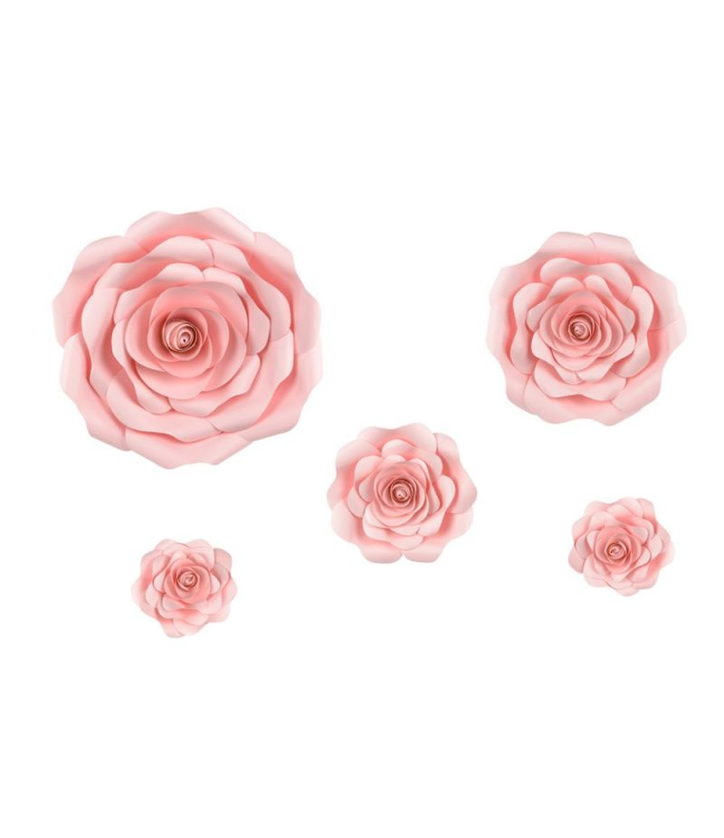 Set 5 pezzi Decorazioni a forma di ROSA ROSA per feste e party