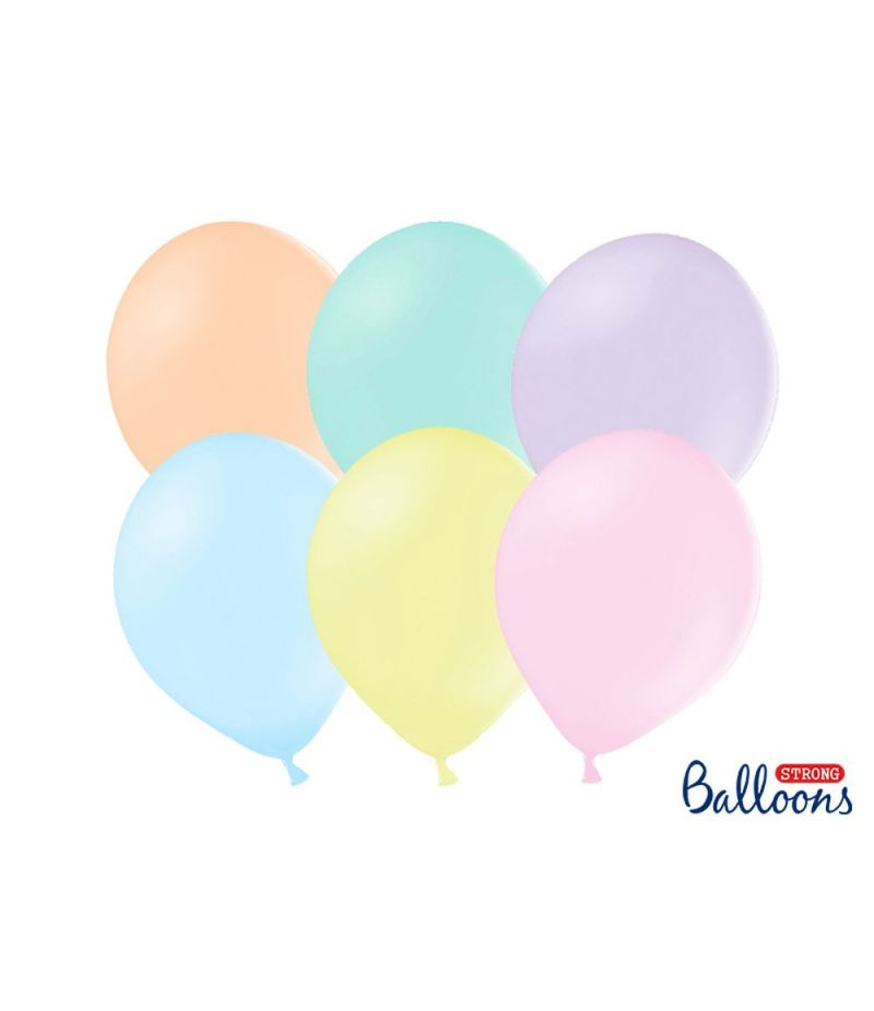 100 PZ Palloncini lattice colore PASTELLO MIX 23 cm