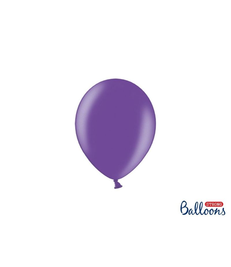 100 PZ Palloncino Palloncini Lattice 12 cm VIOLA metallic